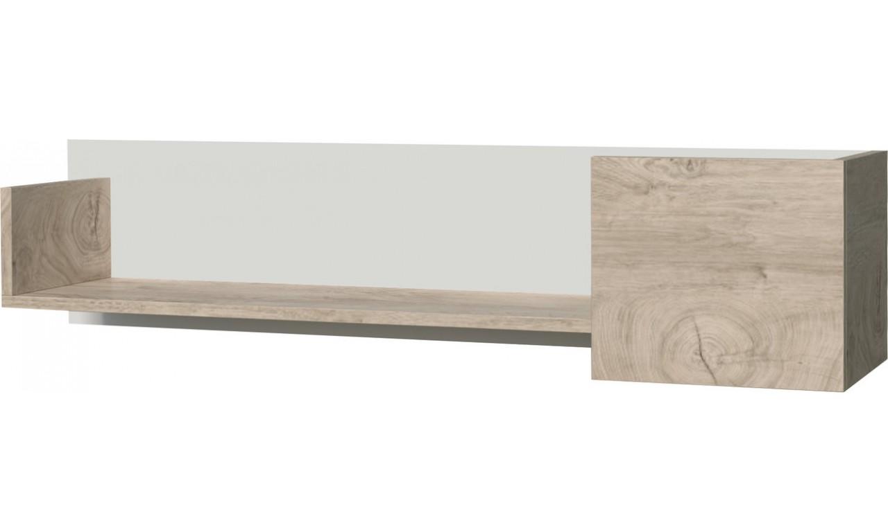 Brązowobiała lub brązowoczarna półka wisząca w stylu nowoczesnym ETNA 11