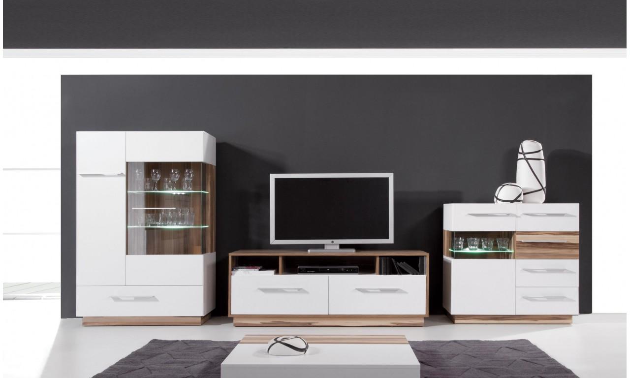 Czarnobrązowa lub białobrązowa witryna w stylu nowoczesnym MONSUN 2L