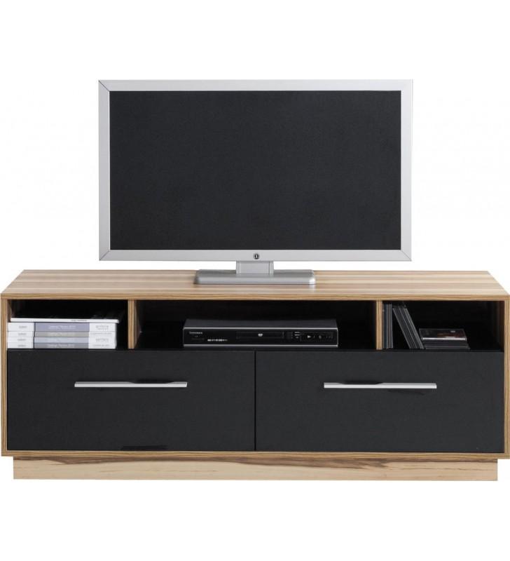 Czarnobrązowy lub białobrązowy stolik RTV w stylu nowoczesnym MONSUN 8