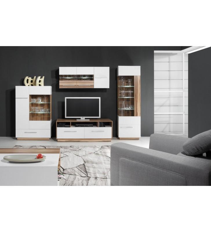 Czarnobrązowa lub białobrązowa szafka wisząca w stylu nowoczesnym MONSUN 10