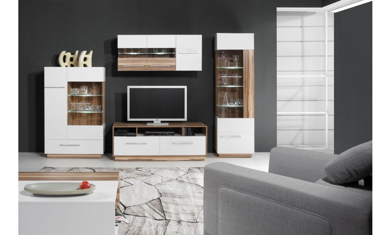 Czarnobrązowa lub białobrązowa szafka wisząca w stylu nowoczesnym MONSUN 11