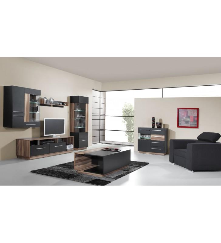 Czarnobrązowa lub białobrązowa półka wisząca w stylu nowoczesnym MONSUN 12