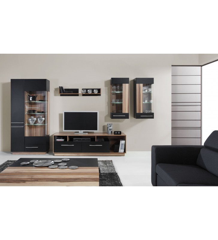 Czarnobrązowa lub białobrązowa półka wisząca w stylu nowoczesnym MONSUN 13