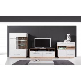 Białobrązowy lub czarnobrązowy zestaw mebli do salonu w stylu nowoczesnym MONSUN B