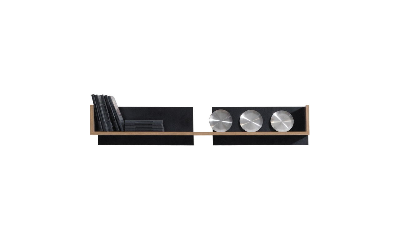 Czarnobrązowy lub białobrązowy zestaw mebli do salonu MONSUN C wraz z ławą