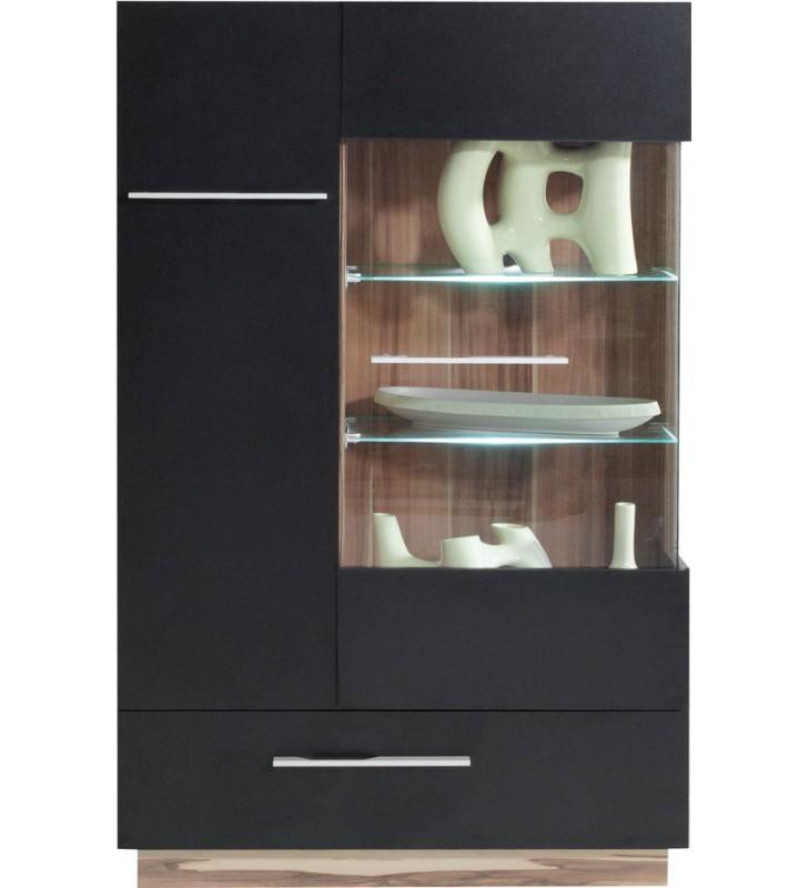 Białobrązowy lub czarnobrązowy zestaw mebli do salonu MONSUN E wraz z ławą