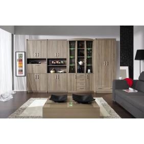 Zestaw brązowych mebli pokojowych w stylu klasycznym MEGA A