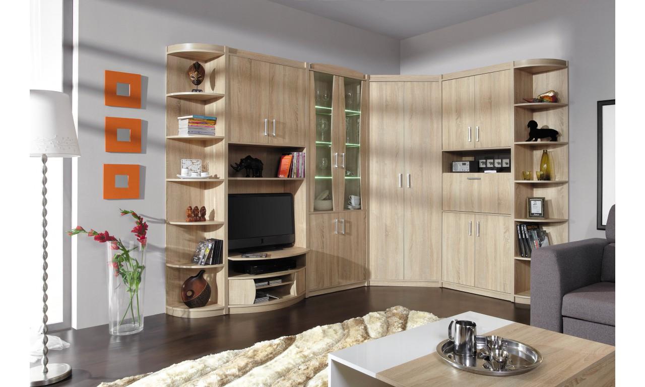 Zestaw brązowych mebli pokojowych w stylu klasycznym MEGA B