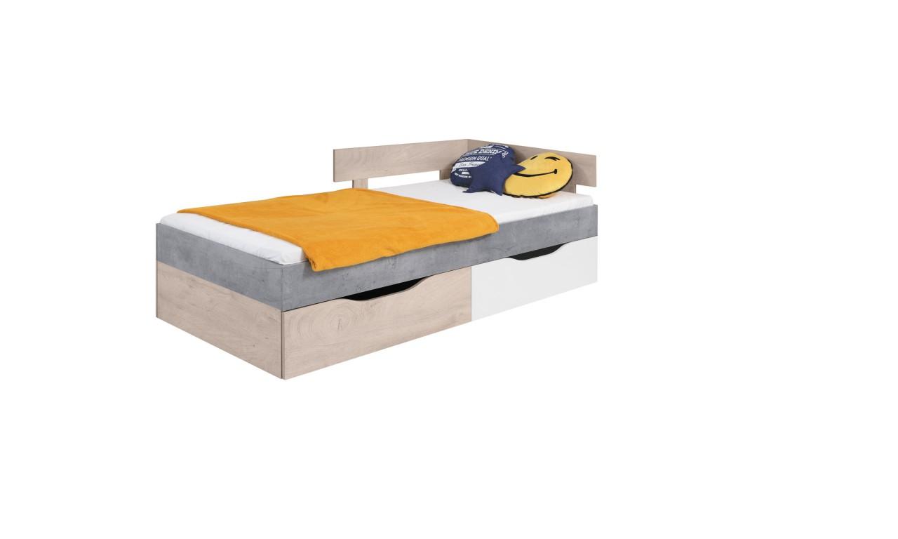Łóżko (90x200 cm) w stylu nowoczesnym SIGMA 15