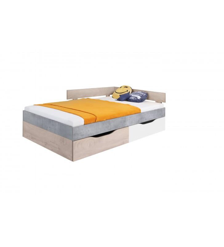 Łóżko (120x200 cm) w stylu nowoczesnym SIGMA 16