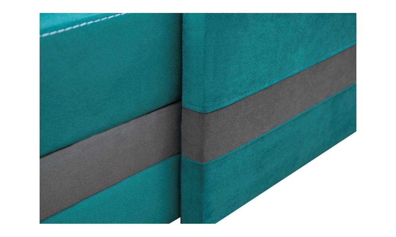 Błękitny narożnik z funkcją spania i dwoma pojemnikami na pościel Koliber (c2313+c2315)