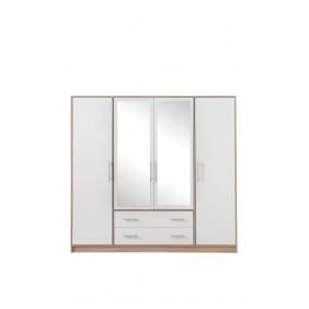 Szafa z białym frontem i z lustrem SMART 1