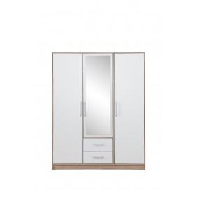 Szafa z białym frontem i z lustrem SMART 2
