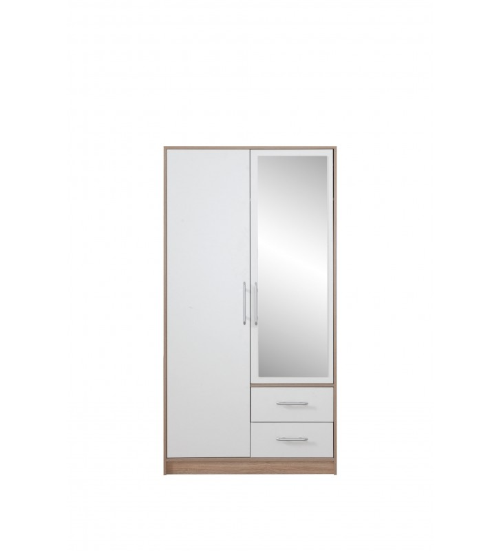 Szafa z białym frontem i z lustrem SMART 3