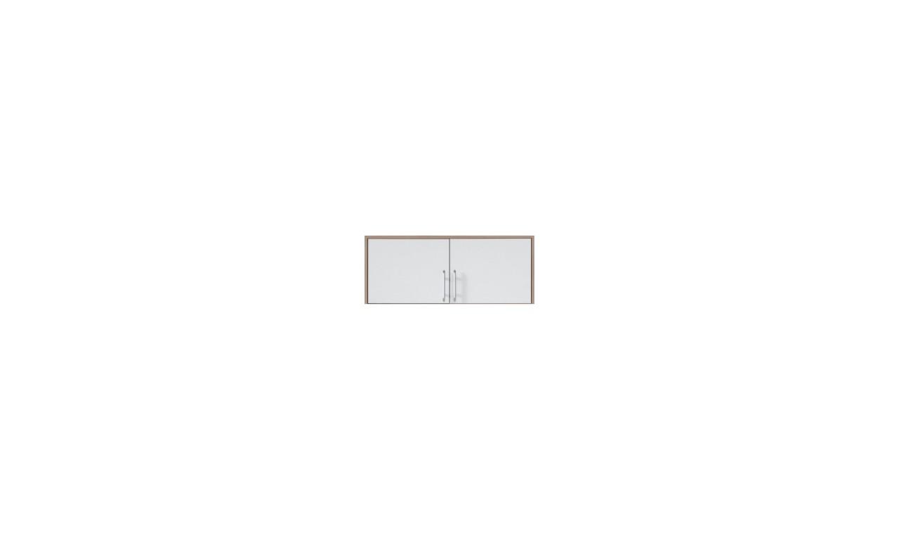 Szafa z białym frontem, lustrem i nadstawką SMART 3