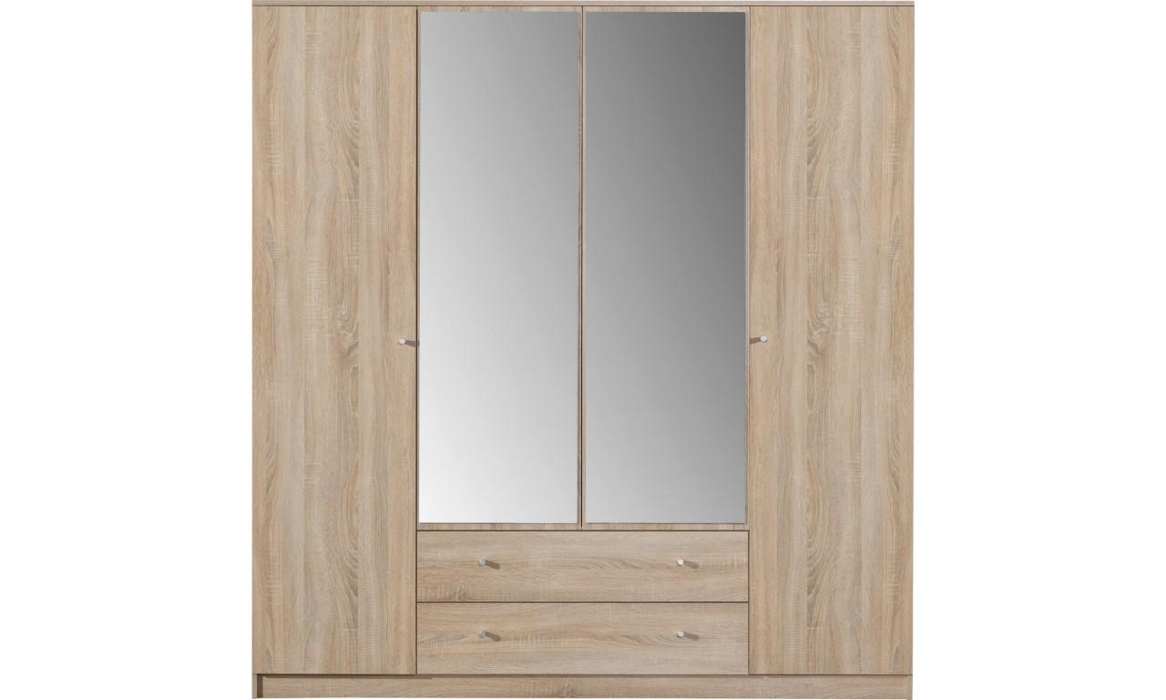 Szeroka szafa (200 cm) z lustrem OPTIMO 1