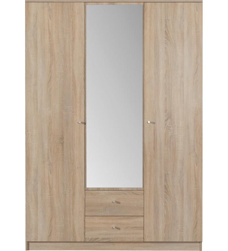 Brązowa szafa OPTIMO 2 z lustrem