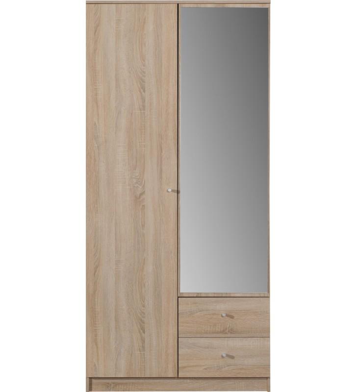 Brązowa szafa z lustrem OPTIMO 3