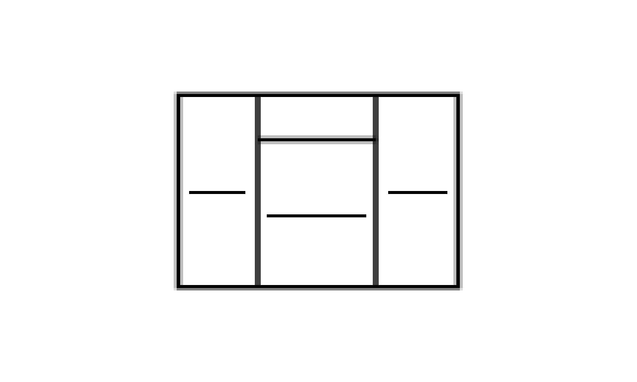 Zestaw białych mebli w stylu nowoczesnym do salonu Paris 1