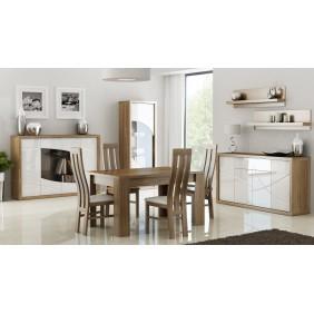 Zestaw białych mebli w stylu nowoczesnym do jadalni JRP2