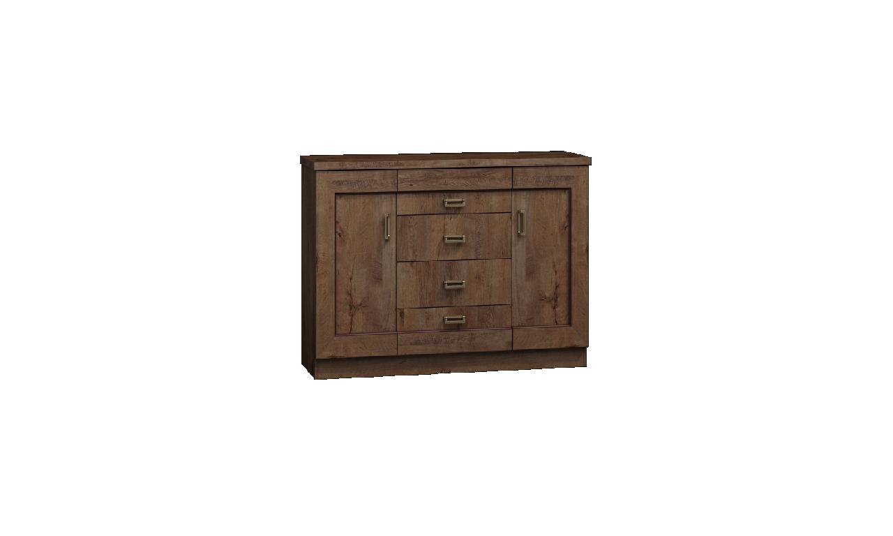 Zestaw brązowych mebli w stylu klasycznym do salonu Tadeusz 1