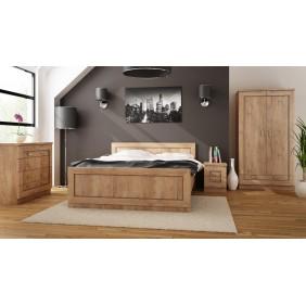 Zestaw brązowych mebli w stylu klasycznym do sypialni Tadeusz 3