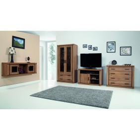 Zestaw brązowych mebli w stylu klasycznym do salonu Dallas 3