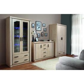 Zestaw brązowych mebli w stylu klasycznym do salonu Dallas 4