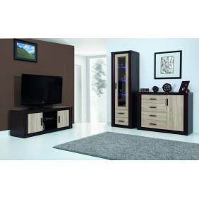 Zestaw brązowych mebli w stylu klasycznym do salonu JRD5