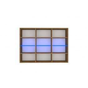 Czarno-brązowa komoda (z podświetleniem LED) do salonu w stylu nowoczesnym Nobi