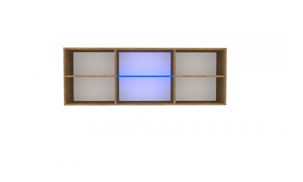 Czarno-brązowy stolik RTV w stylu nowoczesnym Nobi