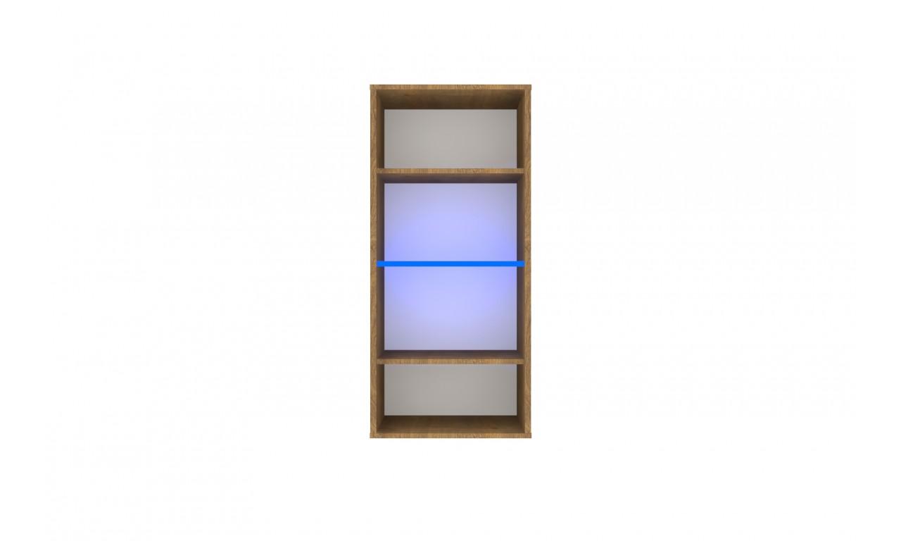 Czarno-brązowa szafka wisząca w stylu nowoczesnym Nobi