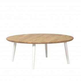 Dębowy stolik o średnicy 88 cm wys. 34-54 cm Modern Oak
