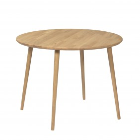 Dębowy stół o średnicy 88 cm wys. 67-75 cm Modern Oak