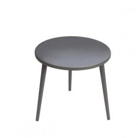 Grafitowy stolik ze sklejki, o średnicy 60 cm wys. 54 cm Dark Moon