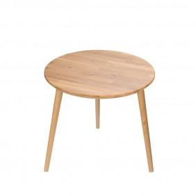 Dębowy stolik o średnicy 60 cm wys. 54 cm Modern Oak
