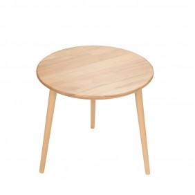 Bukowy stolik o średnicy 60 cm wys. 54 cm Natural
