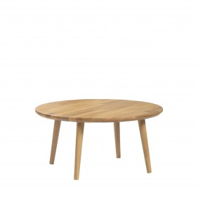 Dębowy stolik o średnicy 70 cm i wys. 34-54 cm Modern Oak