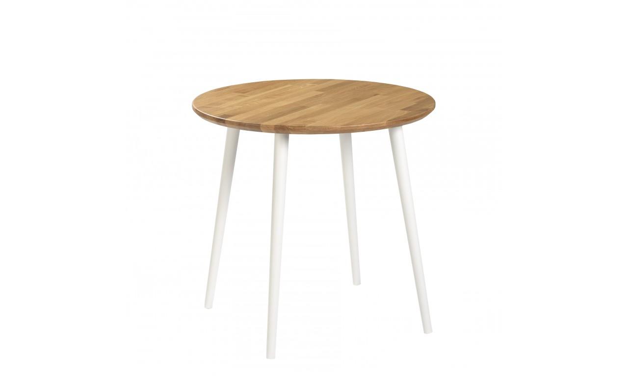 Dębowy stół o średnicy 70 cm wys. 67-75 cm Modern Oak