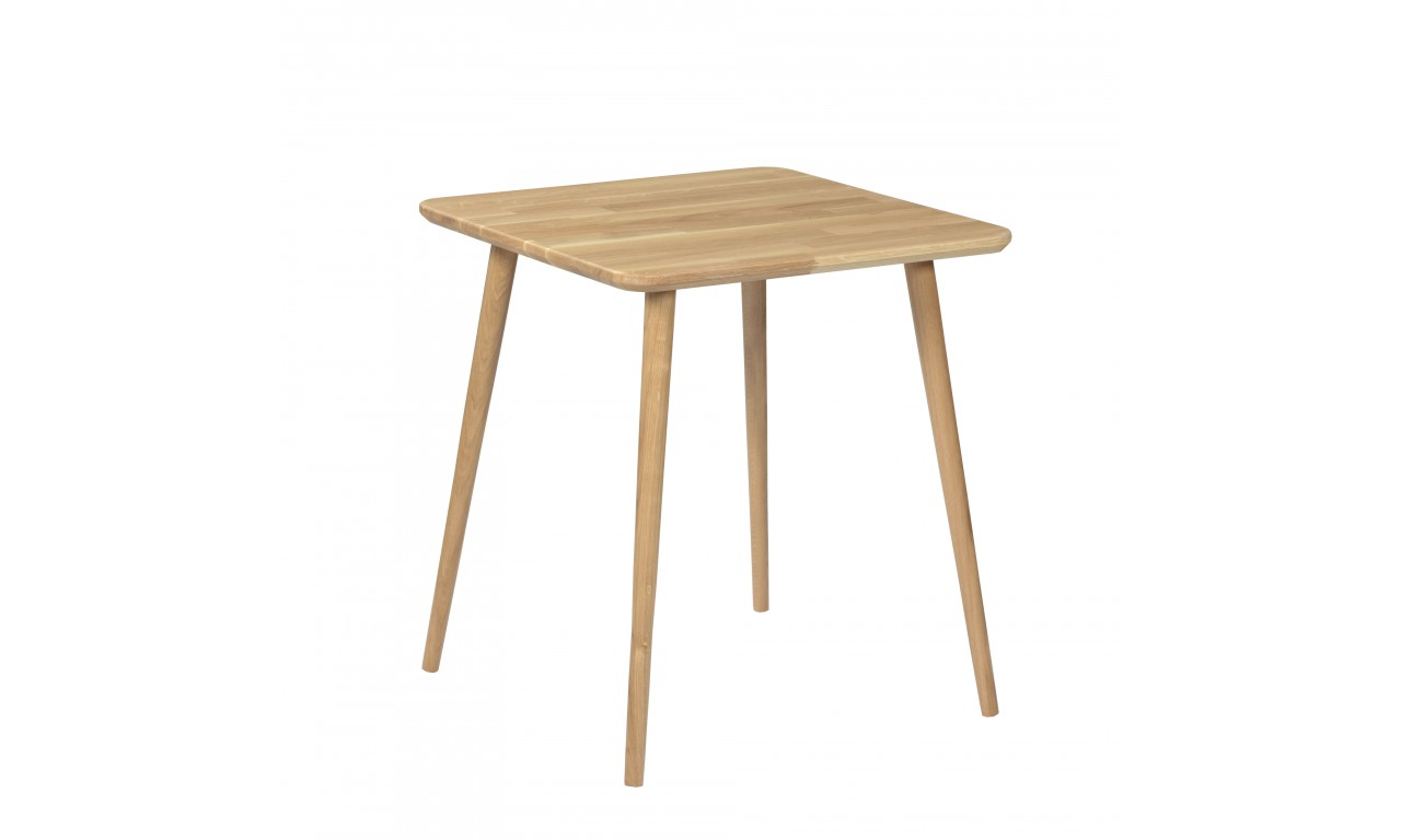 Dębowy, kwadratowy stół (60x60 cm) wys. 67 cm Modern Oak