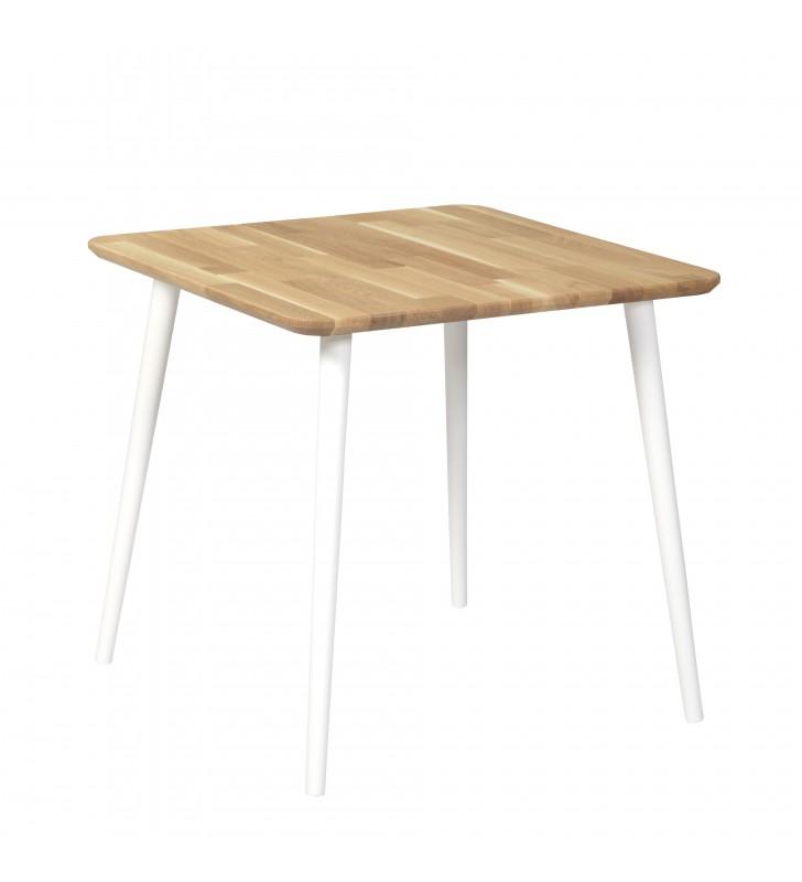 Dębowy, kwadratowy stół (70x70 cm) wys. 67-75 cm Modern Oak