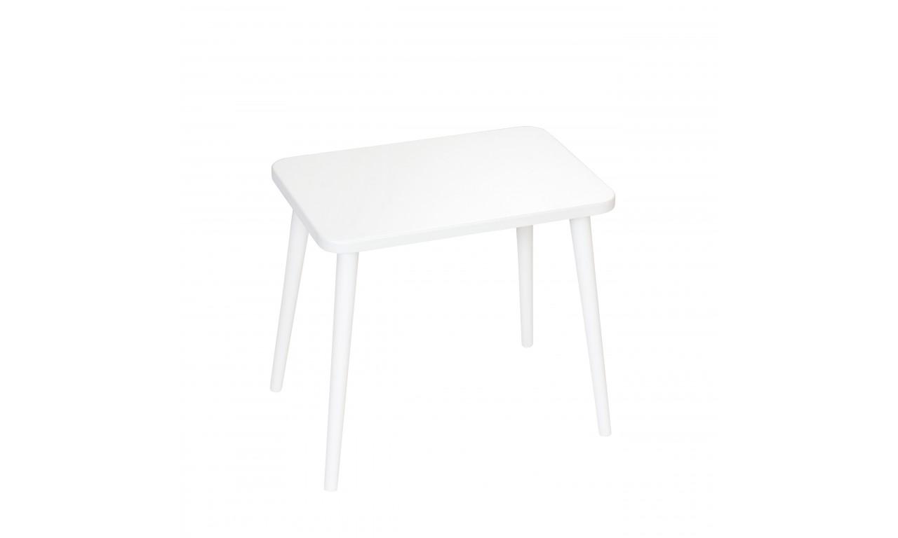 Biały, prostokątny stolik (40x60 cm) wys. 54 cm Crystal White