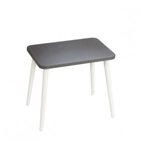 Grafitowy, prostokątny stolik (40x60 cm) wys. 54 cm Dark Moon