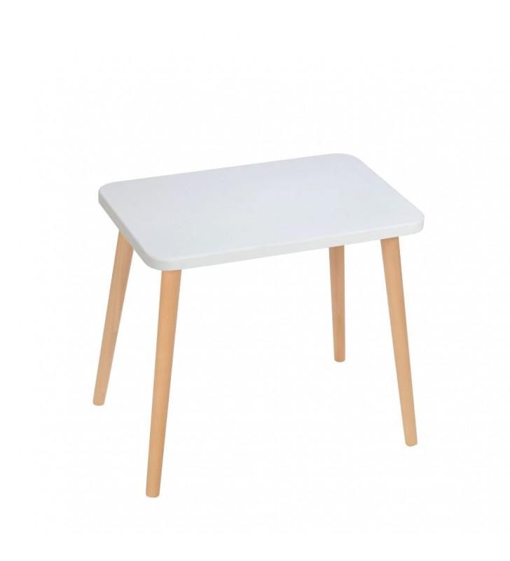 Szary, prostokątny stolik (40x60 cm) wys. 54 cm Gray Moon