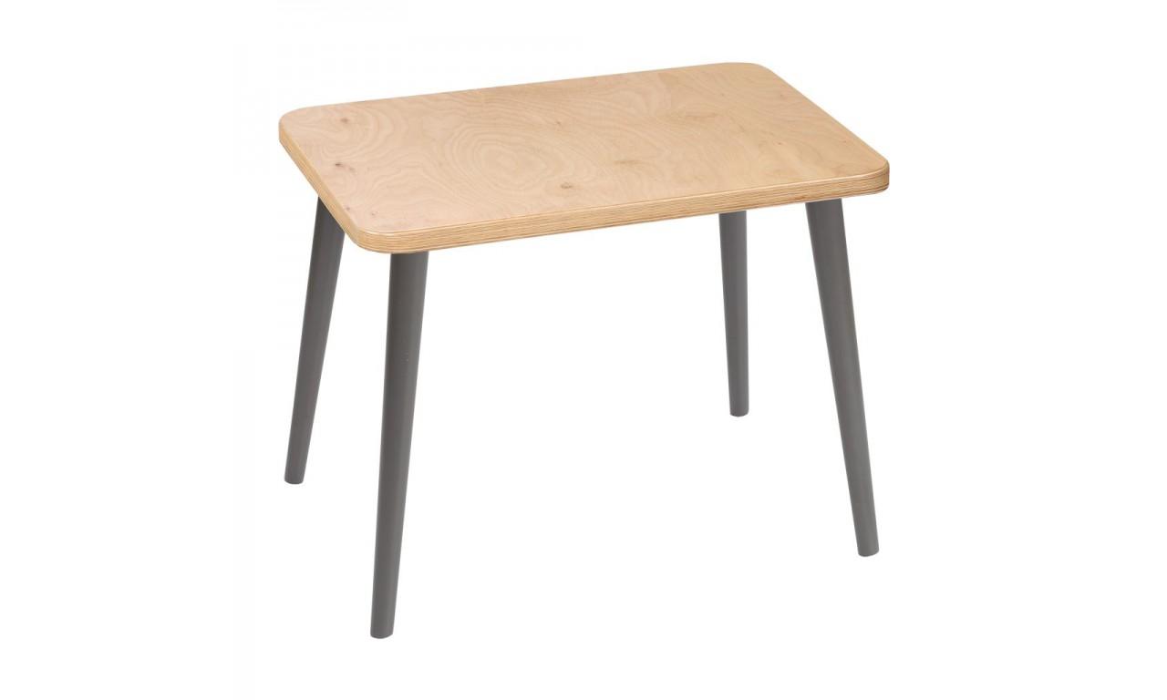 Jasnobrązowy, prostokątny stolik (40x60 cm) wys. 54 cm Freakexpo