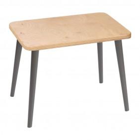 Brązowy, prostokątny stolik (40x60 cm) wys. 54 cm Freakexpo