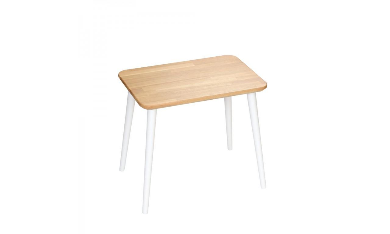 Dębowy, prostokątny stolik (40x60 cm) wys. 54 cm Modern Oak