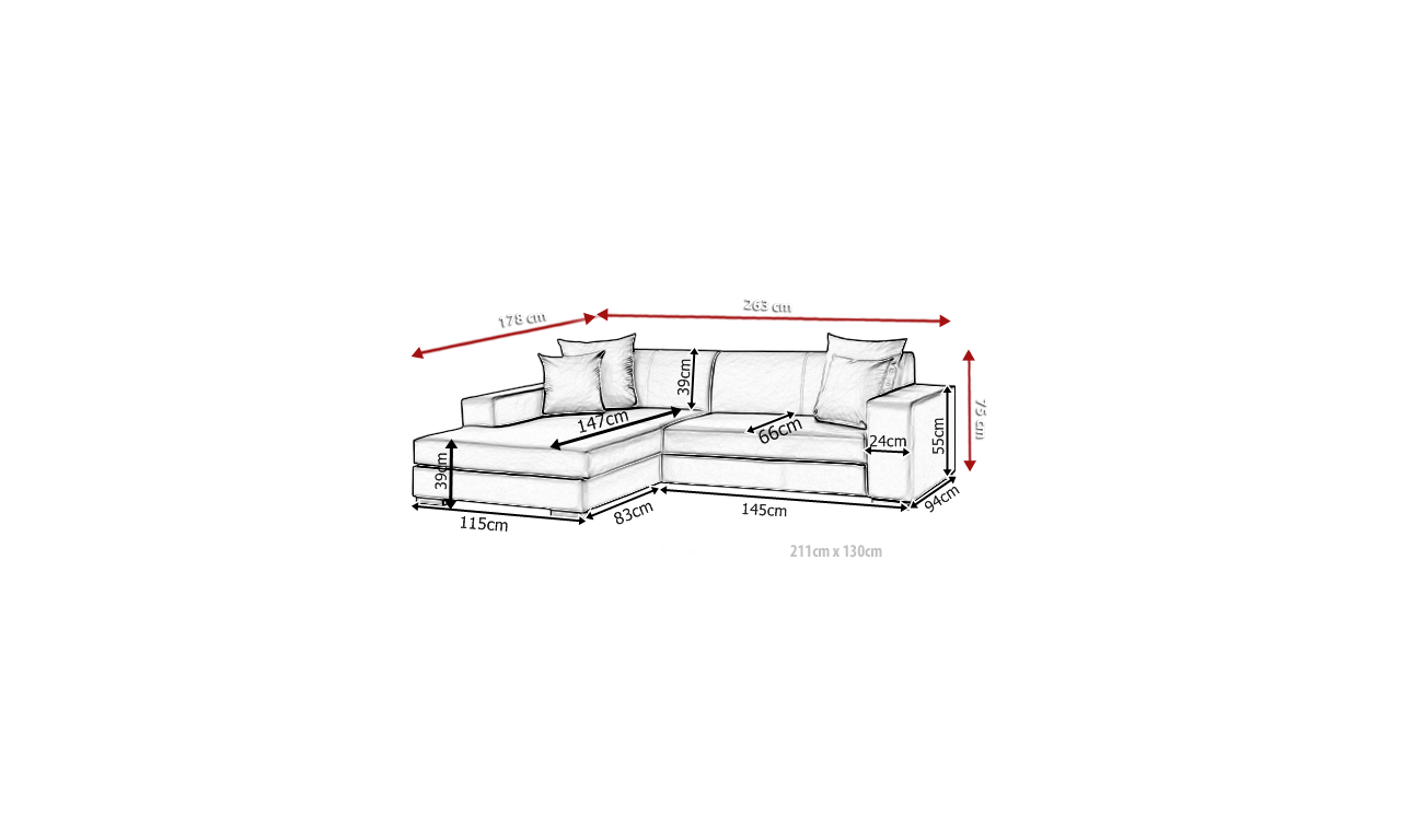 Zielony narożnik z funkcją spania i pojemnikiem na pościel Mexico (c2312)