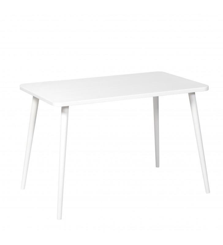 Biały, prostokątny stół (60x100 cm) wys. 67-75 cm Crystal White