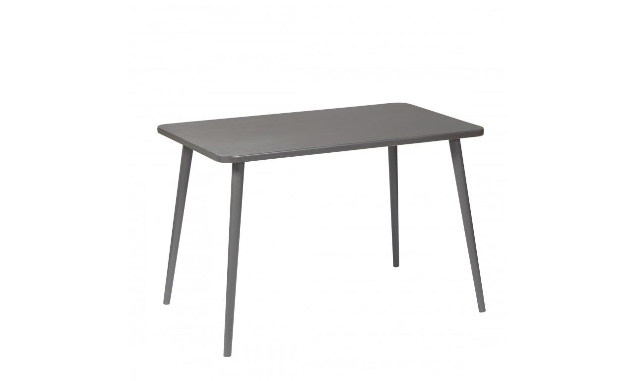 Grafitowy, prostokątny stół (60x100 cm) wys. 67 cm Dark Moon